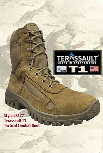 mcrae terassault t1 hot weather performance combat boot in coyote
